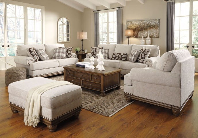 Harleson Wheat Living Room Set From, Living Room Furniture
