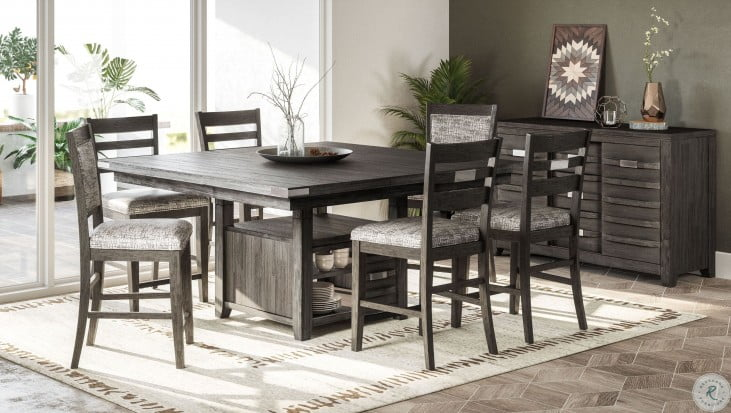 Altamonte Brushed Grey Square, Dining Room Table With Storage
