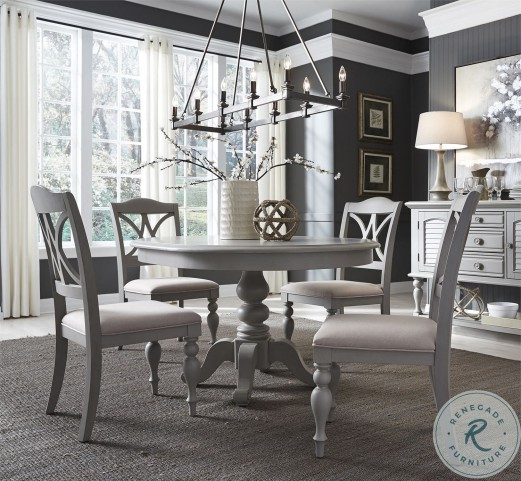 Summer House Dove Grey Extendable Round, Grey Dining Room Set