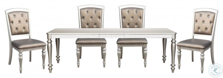 Orsina Silver Extendable Dining Room, Olinde 8217 S Dining Room Furniture