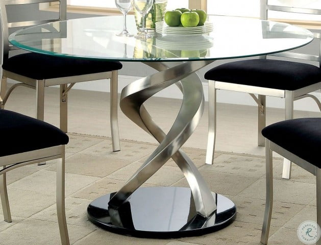 Roxo Round Pedestal Dining Table From, Round Dining Room Table With Pedestal Base