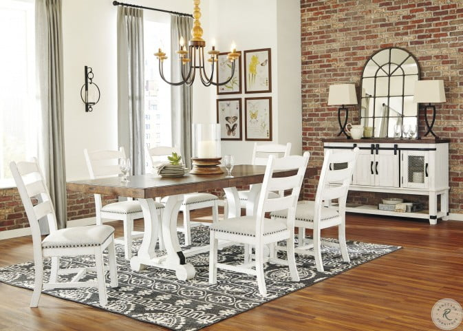 Brown Rectangular Dining Room Set, White And Wood Dining Room Sets
