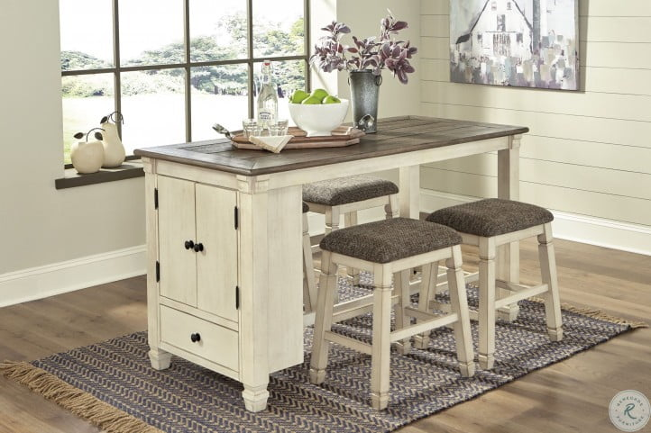 Bolanburg Two Tone Counter Height, Counter Height Dining Room Table