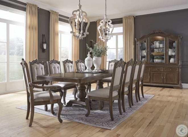 Charmond Brown Extendable Dining Room, Dining Room Sets With Expandable Table